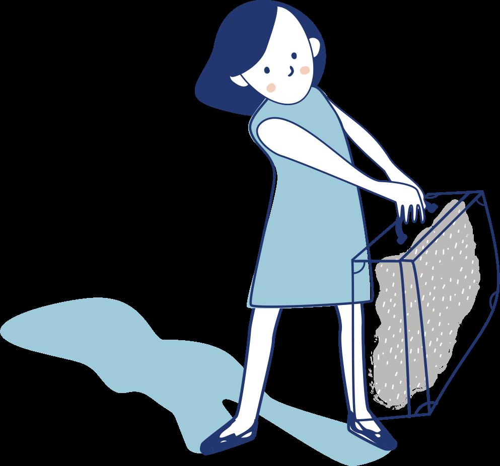 Person med koffert